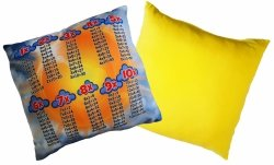 Poduszka matematyczna 40x40 wz. 03/żółty