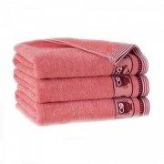 Ręcznik frotte PUSZCZYK 30x50 kolor róż łososiowy