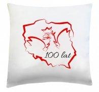 Poduszka patriotyczna 40x40 wz.  2 100 lat