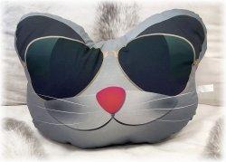 Poduszka emocji - Przytulanka - Kot w okularach