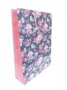 Ozdobne opakowanie, torebka na prezent 26x32 wz. Flower 007