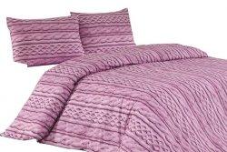Ekskluzywna Pościel Satynowa - 100% bawełna 160x200 lub 140x200 - Tweed Lila