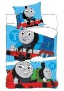 Pościel licencyjna Disney 100% bawełna 160x200 lub 140x200 wz. Thomas 710-159