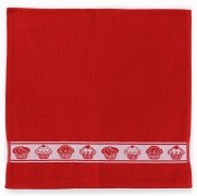Ręcznik Mięta 50x50cm wz. muffin czerwony