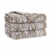 Ręcznik INDIANA z frędzlami 70x140 kolor beżowy