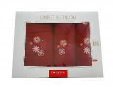 Trzyczęściowy komplet ręczników Banan w pudełku - K32 - Burgund