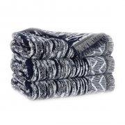 Ręcznik INDIANA z frędzlami 70x140 kolor granatowy