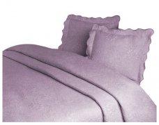 Narzuta GRENO Żakardowa na łóżko 220x260 wz.  FLOWER liliowy