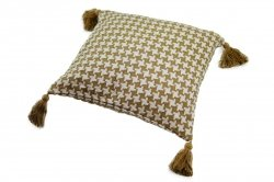 Poszewka na poduszkę Pepitka 40x40 wz. 1619 oliwka- krem
