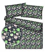 Poszewka na jasiek wz. Kwiaty na czarnym tle - rozmiar 40x40 100% bawełna