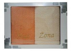 Komplet ręczników Mąż i Żona kolor łosoś - kremowy