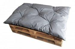 PROMOCJA 60%! Poduszka ogrodowa na paletę - siedzisko 120x80 wz. Szary - II GATUNEK