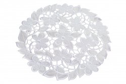 Obrus Haftowany wz. SUP 30 cm koło Kolor: pudrowy róż