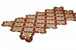 Obrus Haftowany Bruna 036-1 50x100 cm kolor: Brazowy