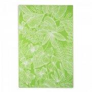 Ręcznik plażowy EDEN - rozmiar 100x160 wz. seledynowo-biały