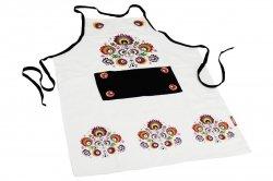 Fartuch kuchenny - Ludowy Łowickie wzory 60x80 Kolor biały wz. 038