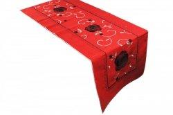 Obrus FLAMENCO 110x160 haftowany, kolor: czerwony