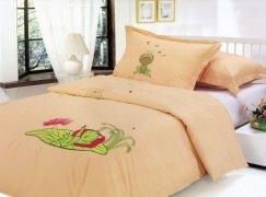 Pościel dziecięca haftowana 100% bawełna 160x200  wzór 231