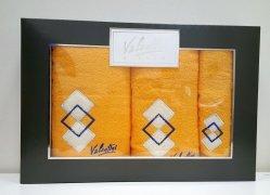 Komplet ręczników 3 częściowy Valentini Bianco wz 04 kolor żółty