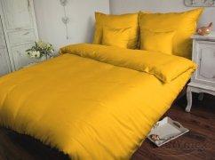 Poszewka na poduszkę 70x80 satyna zapięcie na zamek ANDROPOL kolor Żółtko 004