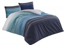Pościel bawełniana Premium DARYMEX kolekcja Exclusive 200x220, 200x200 lub 180x200 + 2x70x80 wz. Summer Blue
