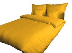 Pościel satynowa DARYMEX 160x200 lub 140x200 - Żółtko 004