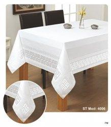 Obrus teflonowy rozmiar 130x160 wzór biały (190)