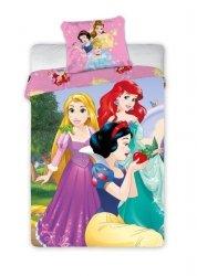 Pościel licencyjna Disney 100% bawełna 160x200 lub 140x200 Księżniczki wz. Princess 055