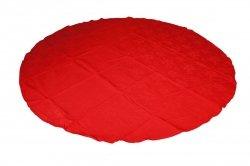 Obrus bawełniany ADAMASZEK LAM Rozmiar: 220cm koło Kolor: czerwony
