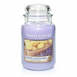 Świeca Yankee Candle Lemon Lavender - duży słoik