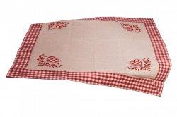 Walentynkowy Obrus Miłka - 3394 rozmiar: 85x85 kolor: beżowy