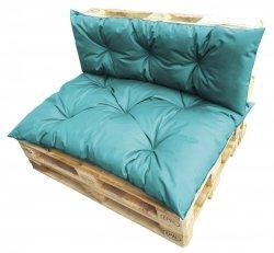 Komplet poduszek ogrodowych na palety 120x80 + 120x40 wz. Turkus