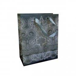Ozdobne opakowanie, torebka na prezent 20x25 wz. Silver 01
