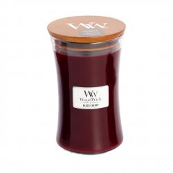 Świeca zapachowa WoodWick - Black Cherry - Duża świeca