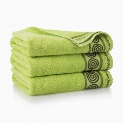 Ręcznik frotte Rondo 50x90 kolor zieleń wiosenna