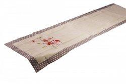 Świąteczny obrus haftowany NIKO rozmiar 40x170 wzór 2491