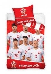 Pościel sportowa licencyjna 100% bawełna 160x200 lub 140x200 - Reprezentacja Polski - wz. PZPN171010