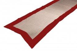 Obrus Kalabria 1772 40x170 Kolor: BEŻOWO-Czerwony