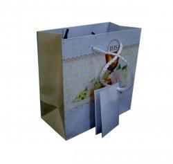 Ozdobne opakowanie, torebka na prezent 15x15  wz. Komunia krem