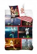 Pościel sportowa licencyjna 100% bawełna 160x200 lub 140x200 - Mix Piłkarzy 01