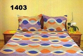 Pościel kora 160x200, 100% bawełna wz. K1403 zapinana na zamek