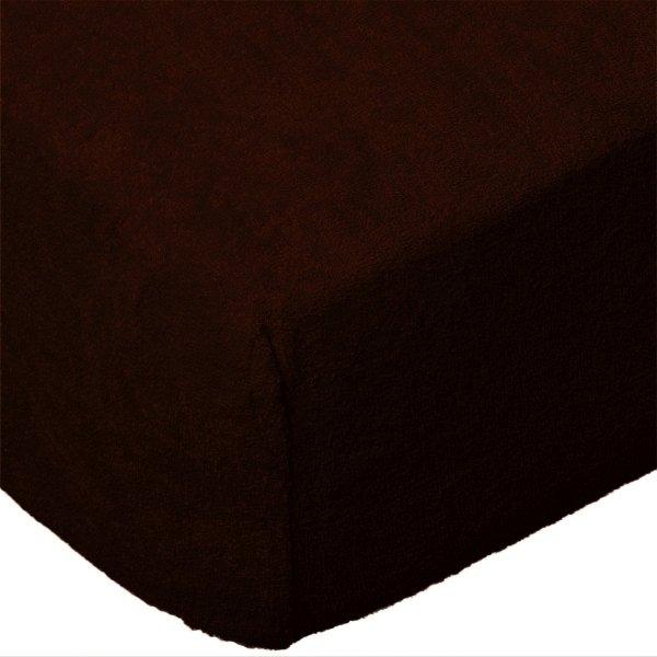Grube Prześcieradło FROTTE 220x200 na gumkę wz. 030 czekoladowy 2