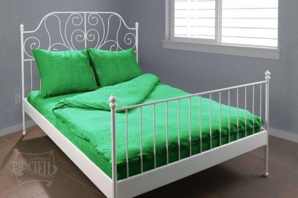 Pościel Frotte wz. 11 ciemno zielony rozmiar 160x200