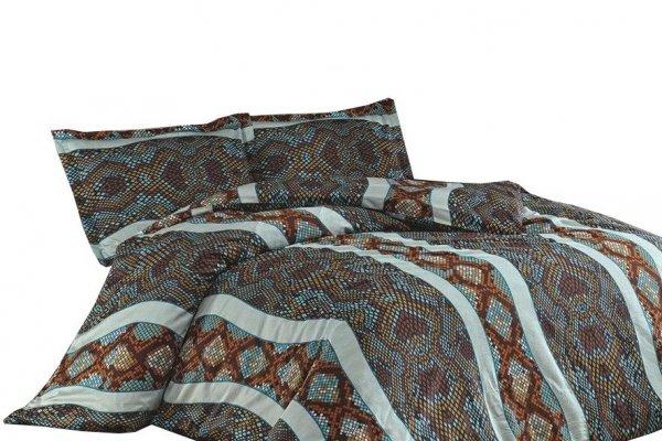Ekskluzywna Pościel Satynowa - 100% bawełna 160x200 lub 140x200 - Gravel Turkuaz