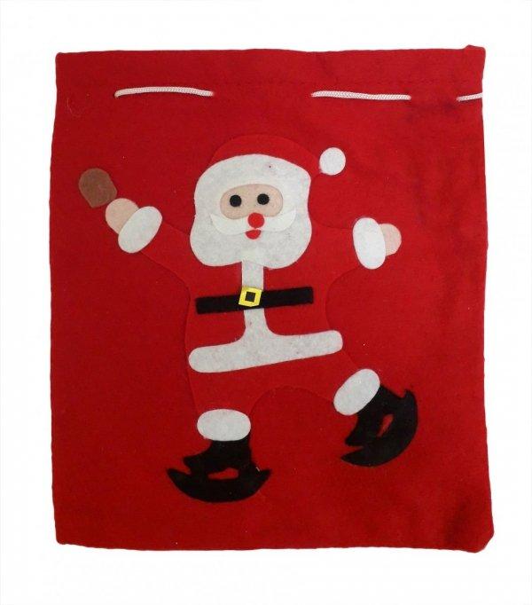 Worki na prezenty, worek Świętego Mikołaja mały roz. 26x20 - wz. 03