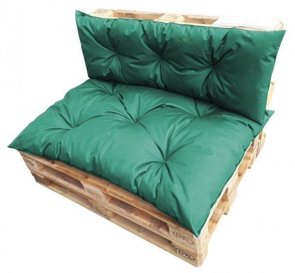 Duży komplet poduszek ogrodowych na palety wz. Ciemnozielony