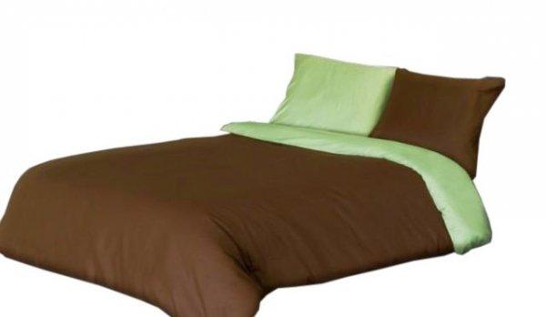 Pościel satyna bawełniana Stella 160x200 lub 140x200 - 21417/1 (oliwka/czekolada)