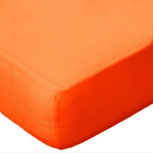 Prześcieradło jersey 180x200 z gumką wz. D035 (pomarańczowy)