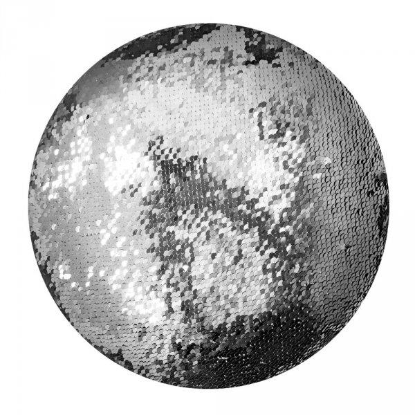 Poduszka ozdobna okrągła w cekiny Moose 30cm - wz. C57O