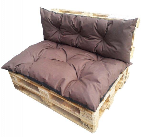 Duży komplet poduszek ogrodowych na palety wz. Brązowy
